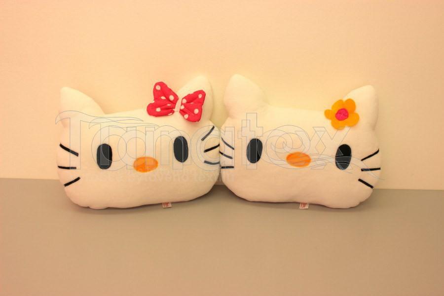 Polštářek mikro koťátko bílé - Zvířátka