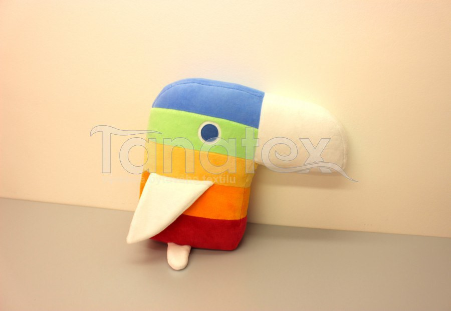 Polštářek - Papouch v pruzích - Speciál
