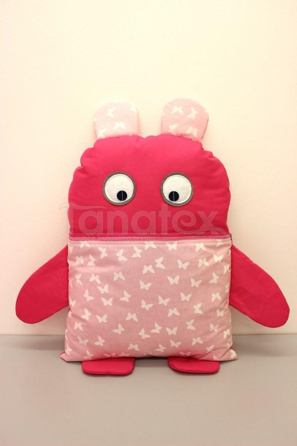 Pyžamožrout - Strašidýlko růžové s motýlky - Pyžamožrout - Žrout snů