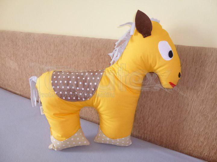 Polštářek bavlněný koníček - Zvířátka