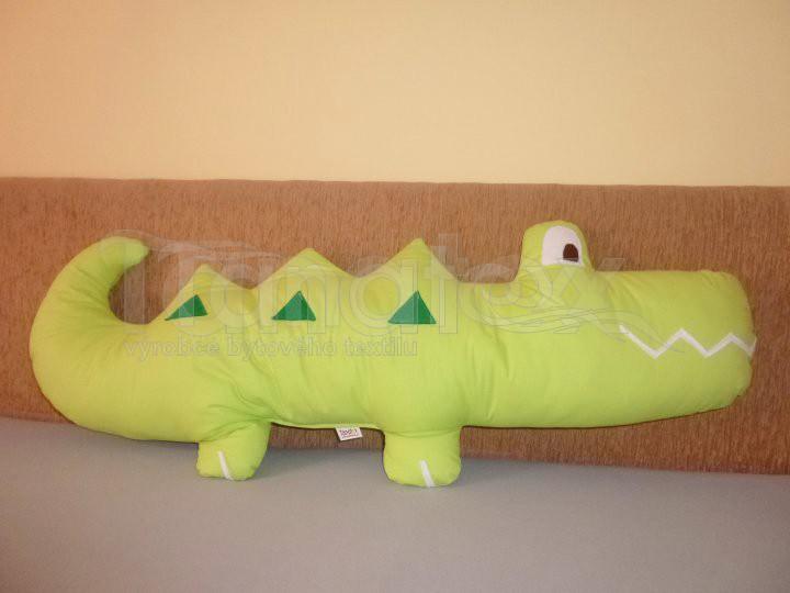 Polštářek bavlněný krokodýl - Zvířátka