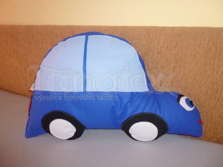 Polštářek bavlněný - auto modré - Speciál