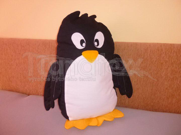 Polštářek bavlněný tučňák - Zvířátka