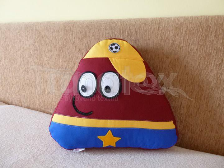 Polštářek - bavlněný malý Pou - Duklas - Pou malý - fotbalista - hokejista