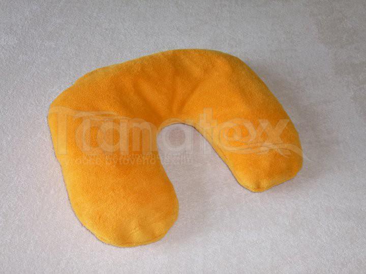 Zákrčník lux - žlutooranžový - Relaxační a zdravotní polštáře