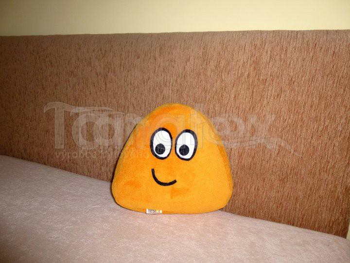 Polštářek - mikro mini Pou - žlutooranžový - Pou polštářek mini