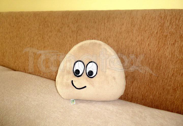 Polštářek - mikro mini Pou - béžový - Pou polštářek mini