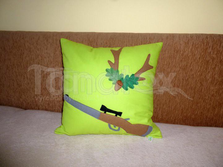 Dekorační polštář Puška - Pro myslivce