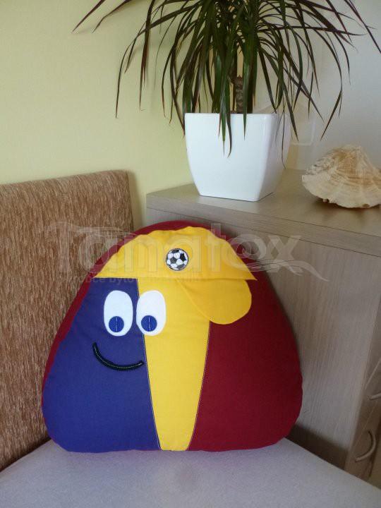 Polštářek - bavlněný malý Pou - Spartakus - Pou malý - fotbalista - hokejista