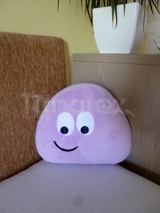 Polštářek - mikro mini Pou - fialový - Pou polštářek mini