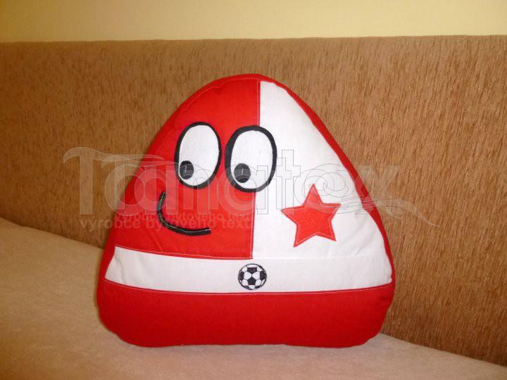 Polštářek - bavlněný malý Pou - Slávius - Pou malý - fotbalista - hokejista