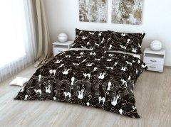 Povlečení Kočky na černém 220x300 ložní povlečení bavlna - Ložní povlečení 220x300
