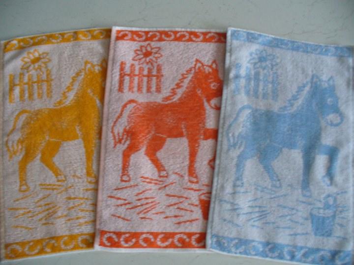 RUČNÍK 30x50 MEDVÍDEK oranžový RŮZNÉ VZORY A BARVY - Dětský ručník do školky a školy