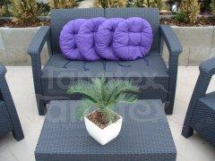 Sedák kulatý - středně fialový sedák kulatý