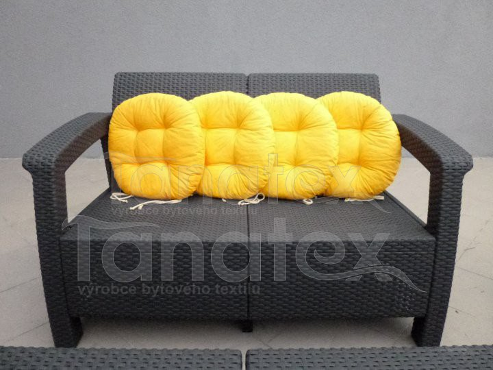 Sedák kulatý - žlutý - sedák kulatý