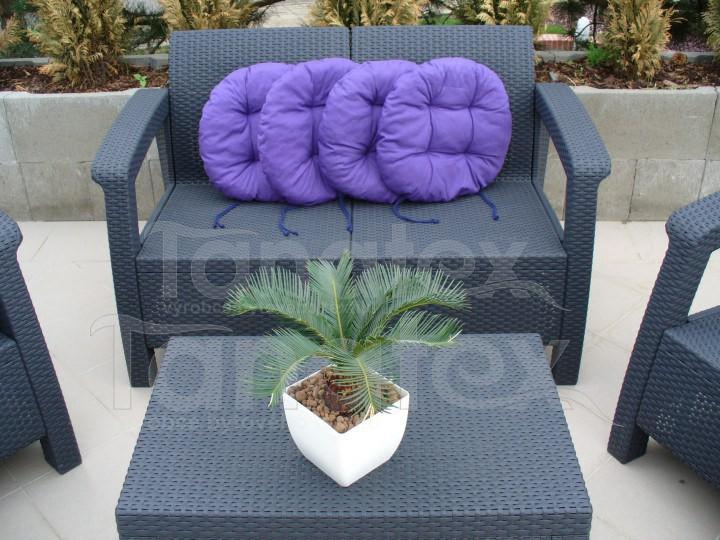Sedák kulatý - středně fialový - sedák kulatý