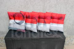 Sedák Spirály na červené a šedé sedák klasik