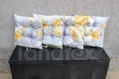 Sedák Žluté květy na šedé sedák klasik