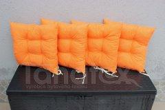 Sedák Oranžový s puntíčky sedák klasik