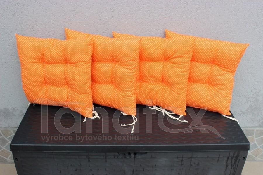 Sedák Oranžový s puntíčky - sedák klasik