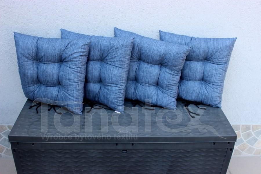 Sedák uni tmavě modrý jako tkaný
