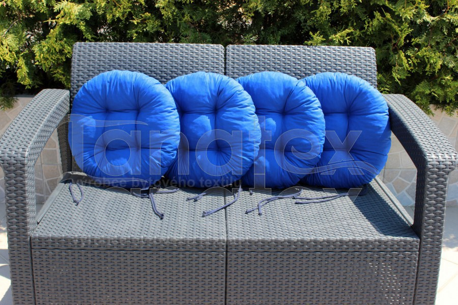 Sedák kulatý - royal modrý - sedák kulatý