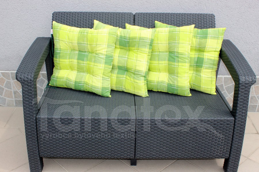 Sedák de luxe Kostky zelené - sedák klasik