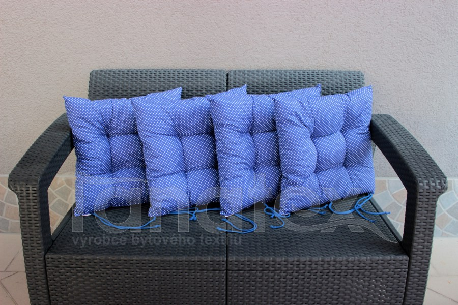 Sedák klasik modrý s bílými puntíčky - sedák klasik