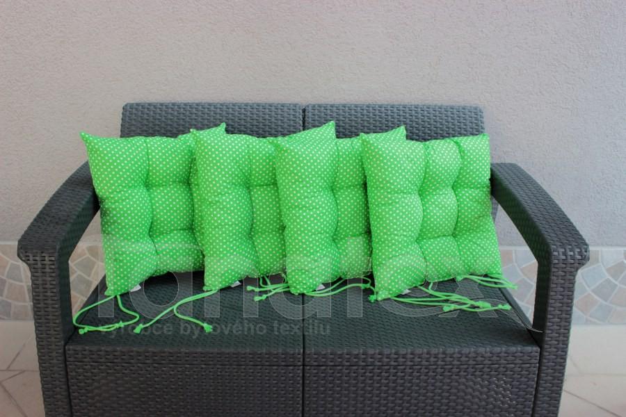 Sedák klasik zelený s bílými puntíčky - sedák klasik