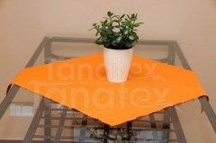 Ubrus kulatý 100cm - teflon oranžový 7315 - 100cm Ubrus kulatý - Ubrus průměr 100cm