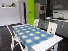 UBRUS 120x140 - tištěný teflon Kostka modrá ubrus klasik - ubrus 120x140