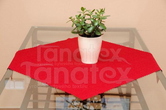 UBRUS 30x60 - teflon červený 7344 - 30x60 - ubrus 30x60