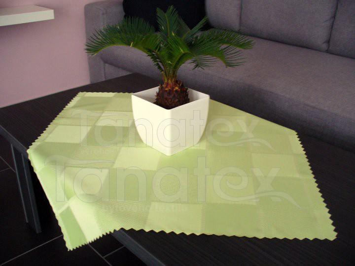 Ubrus tkané kostky - hráškové zelené
