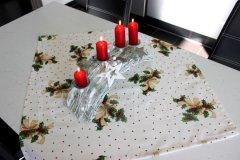 Ubrus Větvičky metráž - Vánoční ubrusy a šály