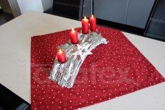 Ubrus Hvězdičky na bordó Vánoční ubrusy a šály