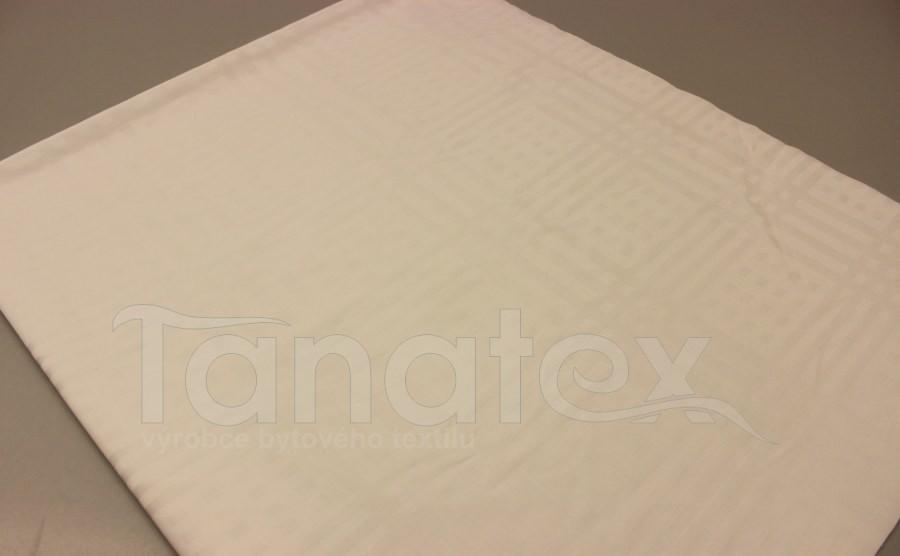 Ubrus bavlněný s kostkou bílý