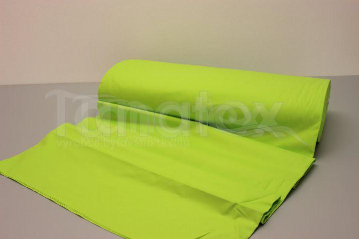 Metráž 240cm jasně zelená v9 - jednobarevná bavlna