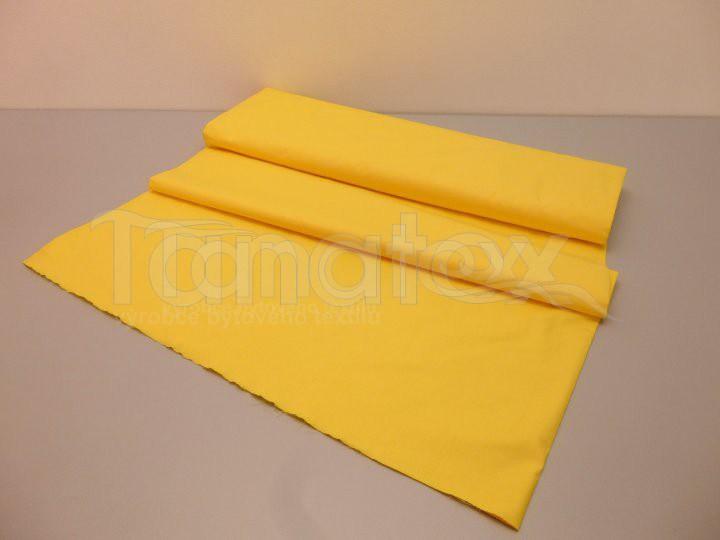 Metráž 240cm žlutá v5 - jednobarevná bavlna