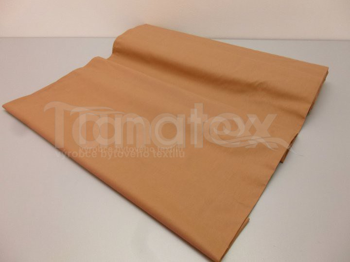 Metráž 240cm oříšková v42 - jednobarevná bavlna