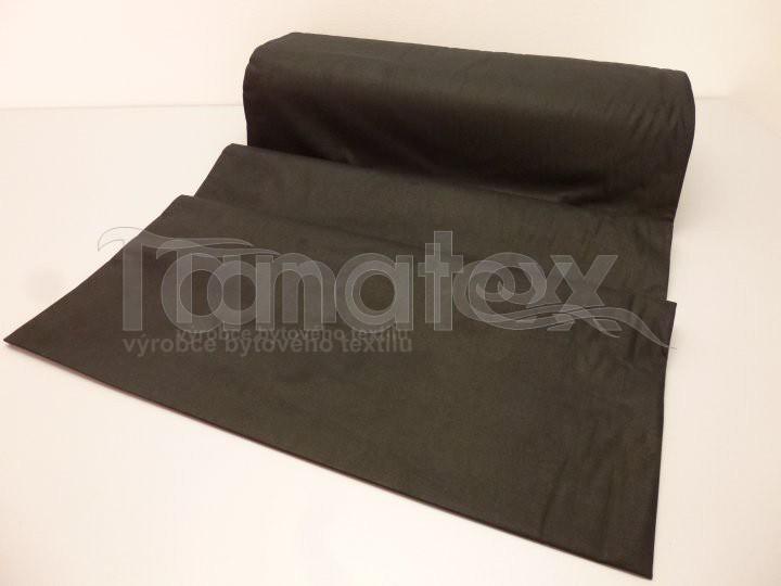 Metráž 240cm tmavě hnědá v27 - jednobarevná bavlna