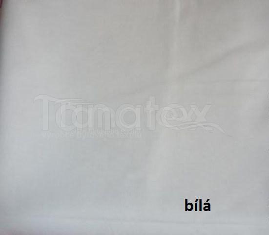 Plátěné prostěradlo do gumy bílé