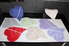 Prostírání srdce textilní prostírání na stůl