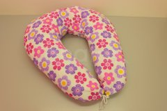 Kojící polštář velký Růžové kytičky Kojící polštáře - Kojící polštář velký
