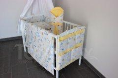 5 ti dílná sada Čáp s miminkem se žlutou Zvýhodněné sady pro miminko