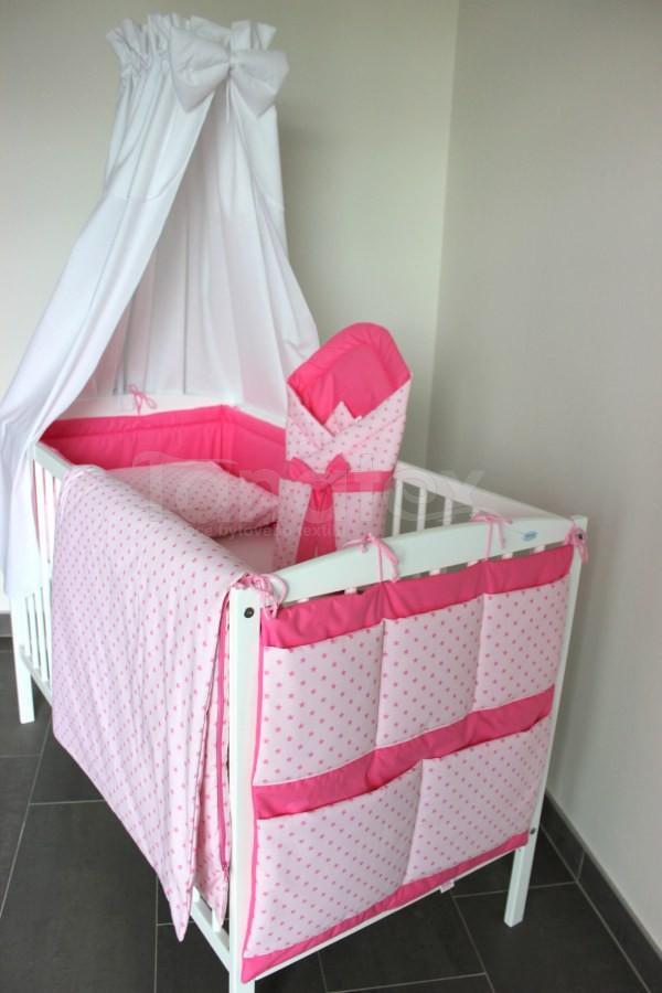 5 ti dílná sada Růžové mini hnězdičky na růžové - uni růžová - Zvýhodněné sady pro miminko