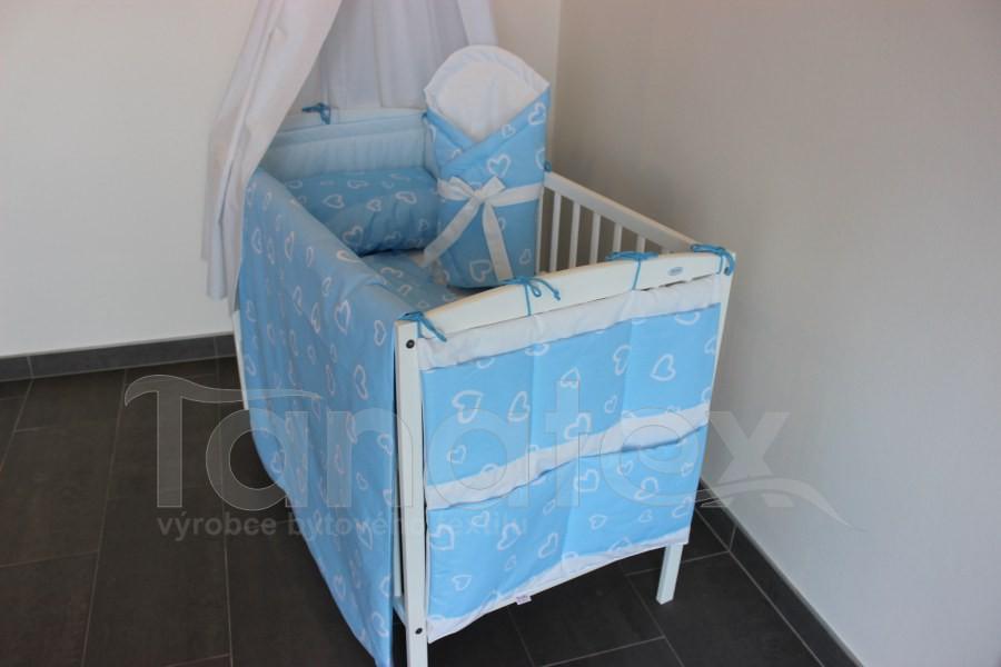 Zavinovačka Srdíčka v perokresbě - modrá - Zavinovačky