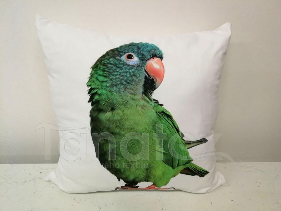 Fotopolštář papoušek zelený