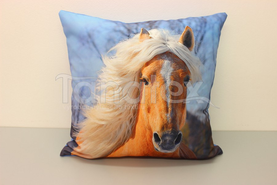 Fotopolštář Palomino kůň - Polštář se zvířetem