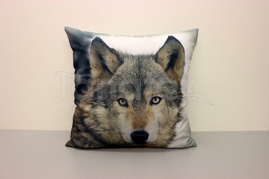 Fotopolštář vlk 2 - Fotopolštář zvíře