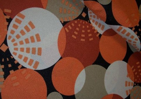 Kočárkovina - šusťák - terra koule - vzorovaná
